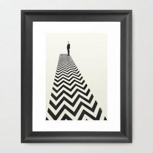 Twin Peaks Minimalist Poster Framed Art Print